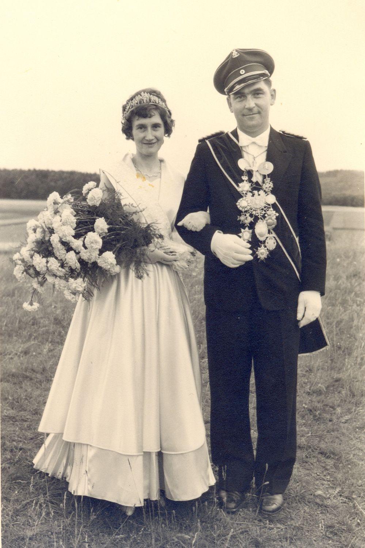 1959 Schützenkönigspaar Artur Schandelle u. Anna Schandelle