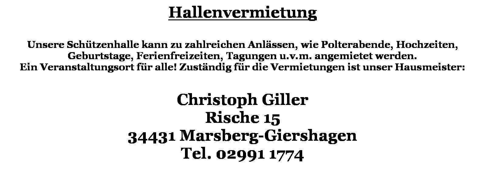 Text Schützenhalle