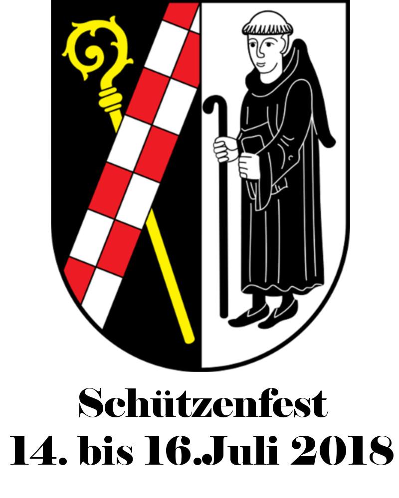 Schützenfest Termin 2018mit Wappen